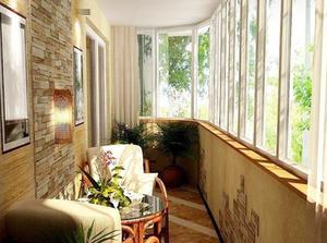 233 Зимний сад на балконе